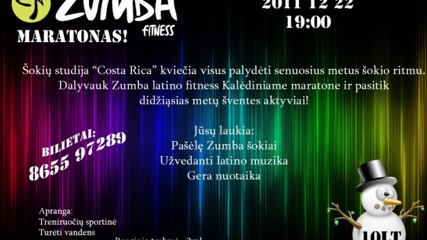 Kalėdinis Zumba latino fitness maratonas!