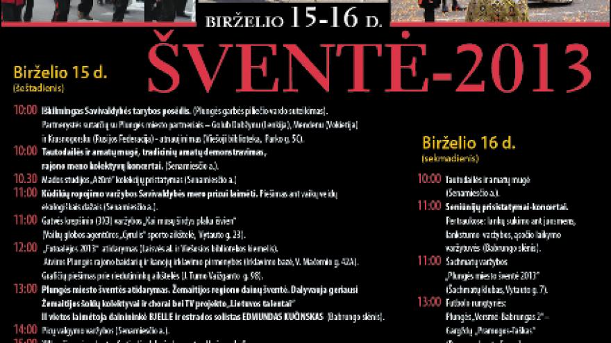 PLUNGĖS MIESTO ŠVENTĖ – 2013
