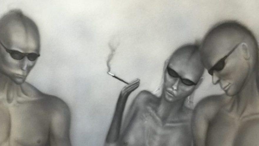 "Britų menininko S V Mitchell's paroda ""Fusion'"""