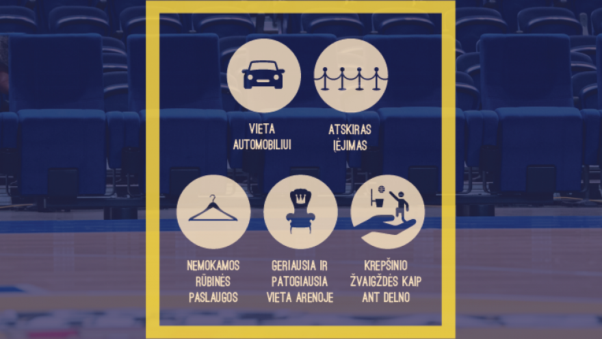 VIP kėdės bilietas RYTO krepšinio rungtynės