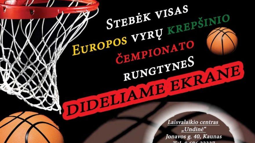 Krepšinio varžybos. Lietuva – Juodkalnija