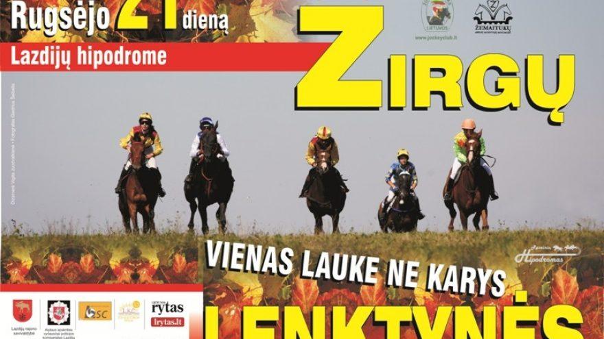 Žirgų lenktynės Lazdijų hipodrome