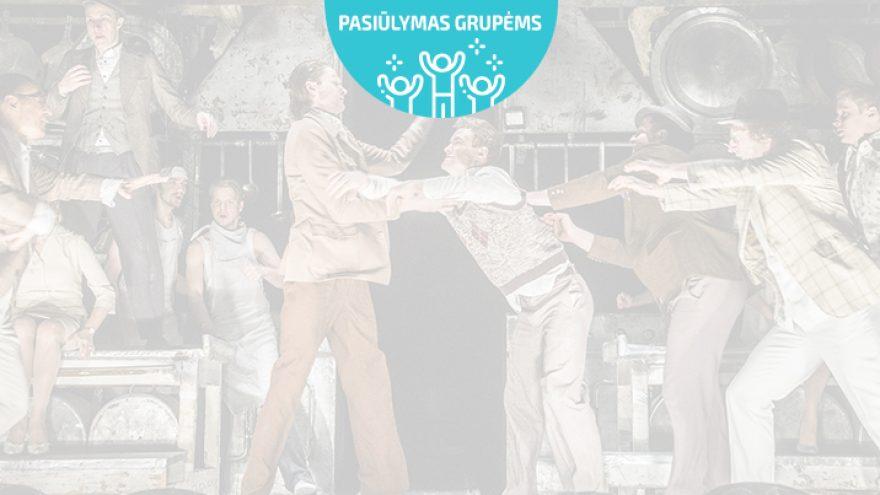 """Pasiūlymai grupėms: William Shakespeare """"ĮSTABIOJI IR GRAUDŽIOJI ROMEO IR DŽULJETOS ISTORIJA"""", rež. O.Koršunovas"""