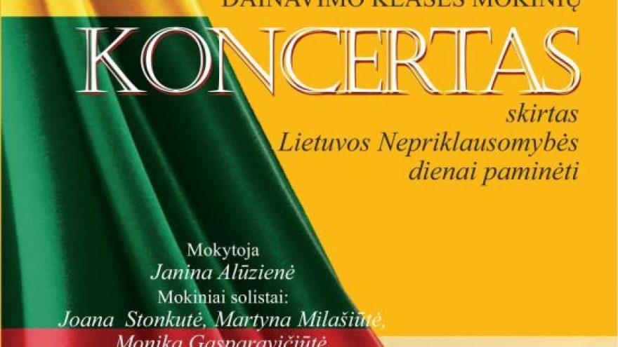 Koncertas, skirtas Lietuvos Nepriklausomybės dienai paminėti