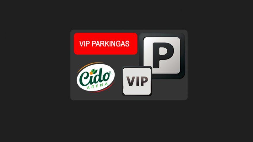 """Krepšinio klubo """"Lietkabelis"""" 2019-2020 metų sezono rungtynių VIP parkingas"""