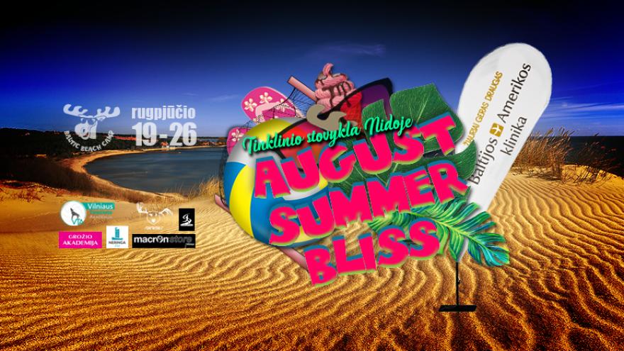 """Tinklinio stovykla Nidoje """"August Summer Bliss"""""""