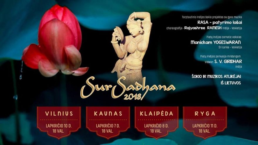 """Klasikinio Indijos meno festivalis """"SurSadhana 2018"""""""