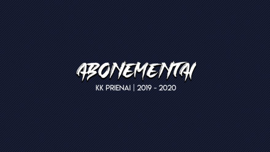 """Krepšinio klubo """"Prienai"""" 2019/2020 metų sezono abonementas"""