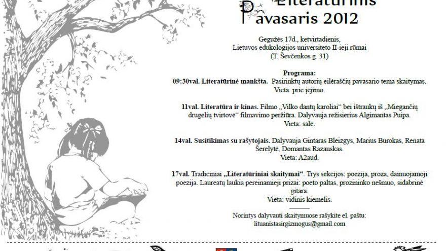 Literatūrinis pavasaris 2012