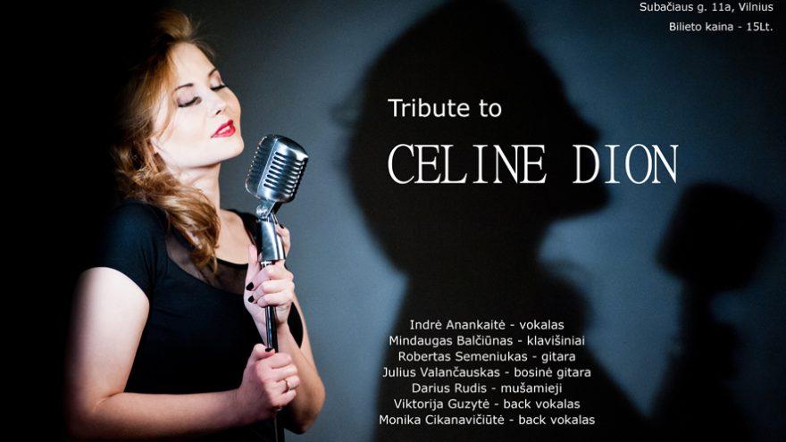 Premjera!!! Tribute To Celine Dion