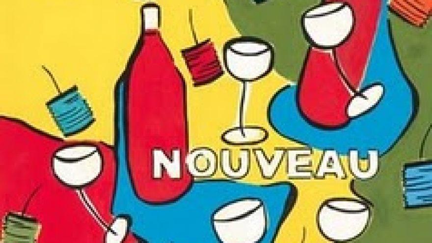 Beaujolais nouveau vyno sutikimas