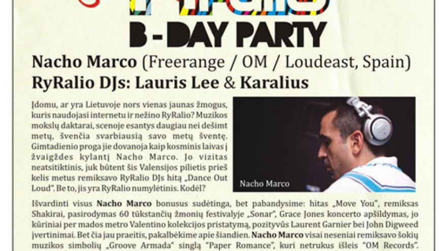 RYRALIO B-DAY PARTY