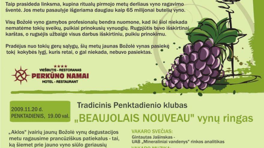Jauno božolė vyno ir maisto šventė !