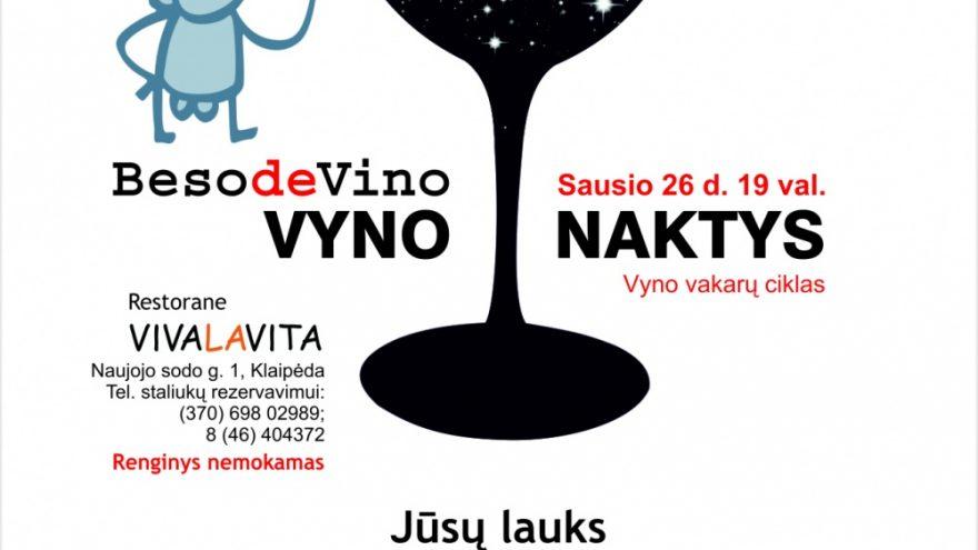 Beso de Vino Vyno naktys