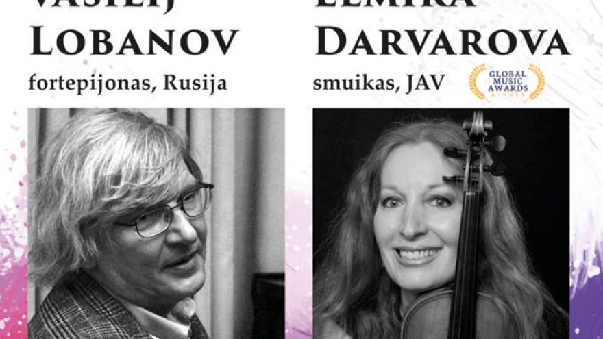 Nemokamas koncertas – Vasilij Lobanov ir Elmira Darvarova