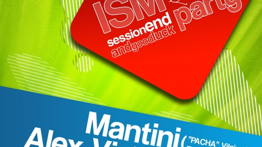 ISM session END and GOOD LUCK PARTY