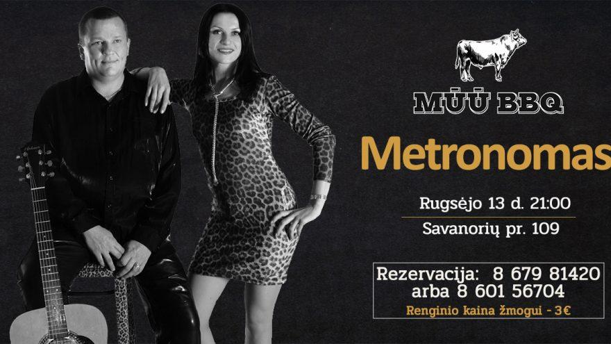 """Gyvos muzikos vakaras su grupe """"Metronomas"""""""