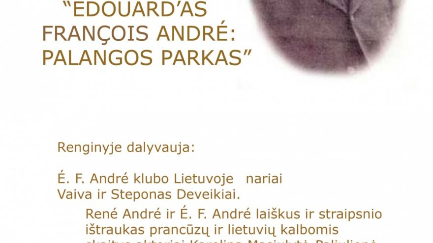 Édouard'as François André: Palangos parkas