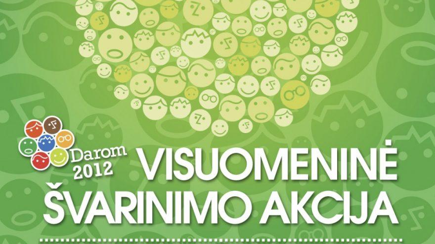"""Visuomeninė švarinimo akcija """"Darom 2012″"""