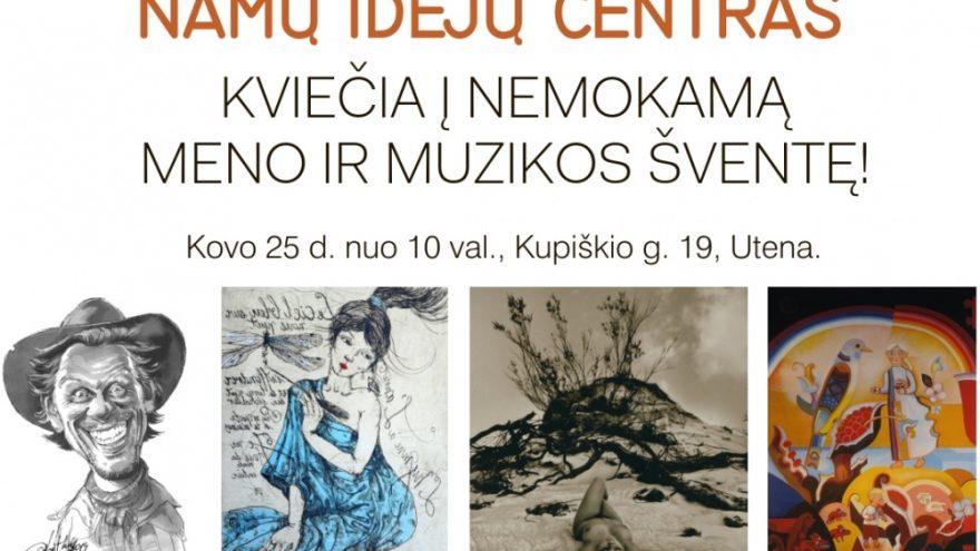 Nemokama meno ir muzikos šventė Utenoje