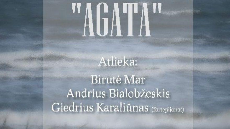 """PREMJERA! Marguerite Duras """"AGATA"""". Režisierė – Birutė Mar."""
