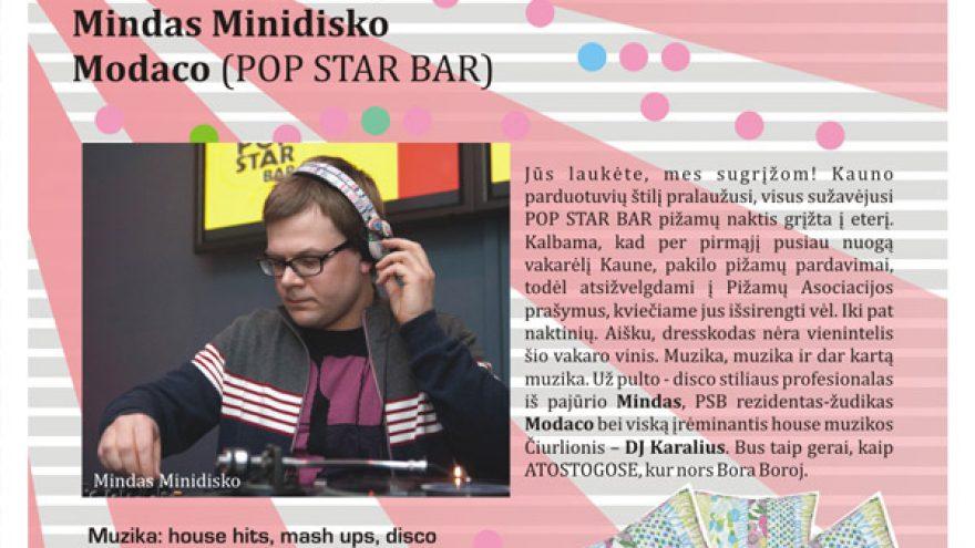 POP STAR PIŽAMŲ VAKARĖLIS