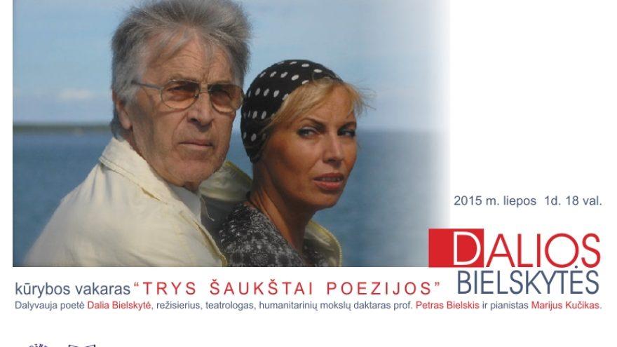 Trys šaukštai poezijos su Dalia Bielskyte