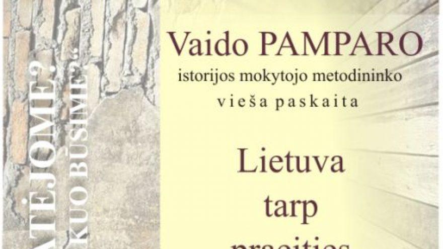 Vaido Pamparo vieša paskaita