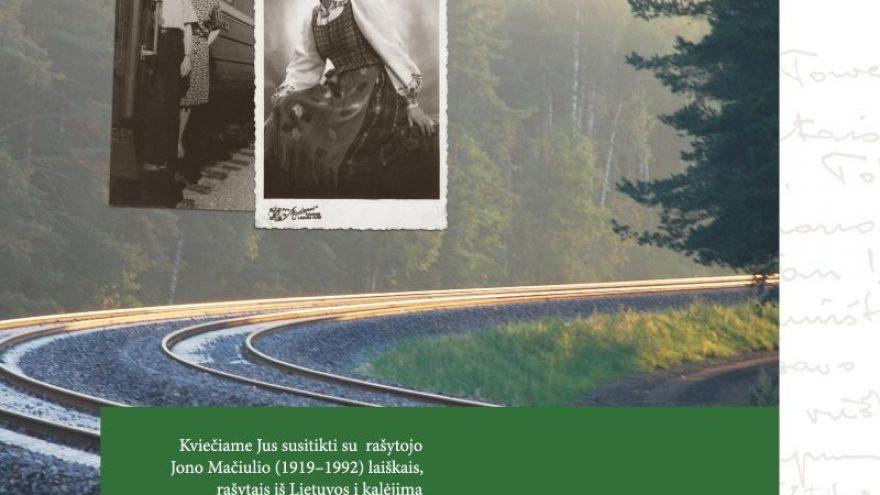 """Knygos """"Jonas Mačiulis. Laiškai Eugenijai"""" pristatymas"""