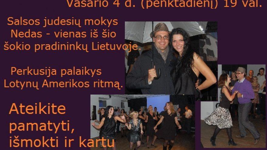 Šokių vakarėlis Lotynų Amerikos ritmu
