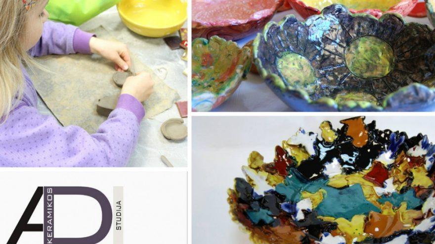 Kūrybinės vaikų dienos stovyklos – ADI keramikos stu
