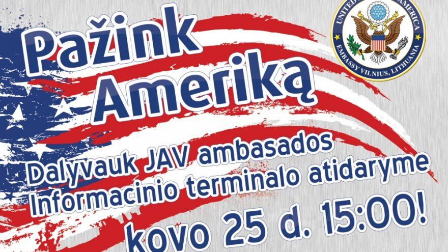 """""""Pažink Ameriką!"""" Klaipėdos Akropolyje"""