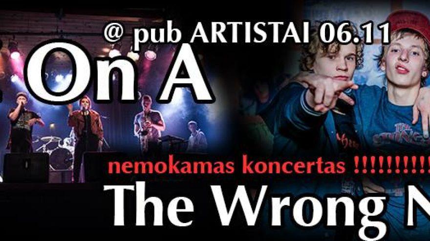 Z On A ir The Wrong Note NEMOKAMAS koncertas