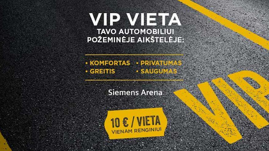 """VIP parkingas """"Siemens"""" arenoje"""
