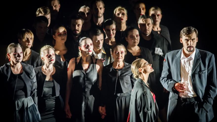 """""""Tryliktas apaštalas, arba Debesis kelnėse"""" / Lietuvos rusų dramos teatras / """"TheATRIUM"""" 2020"""
