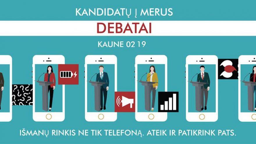 Kandidatų į merus debatai   Kaune
