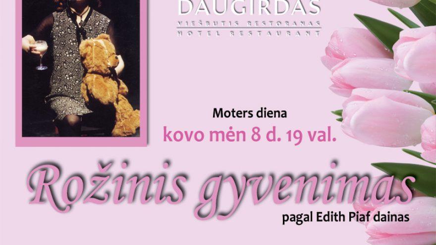 """Moters diena """"Rožinis gyvenimas"""" DAUGIRDE"""