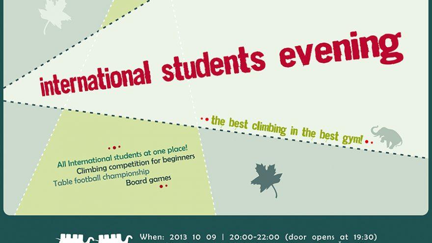 International students evening