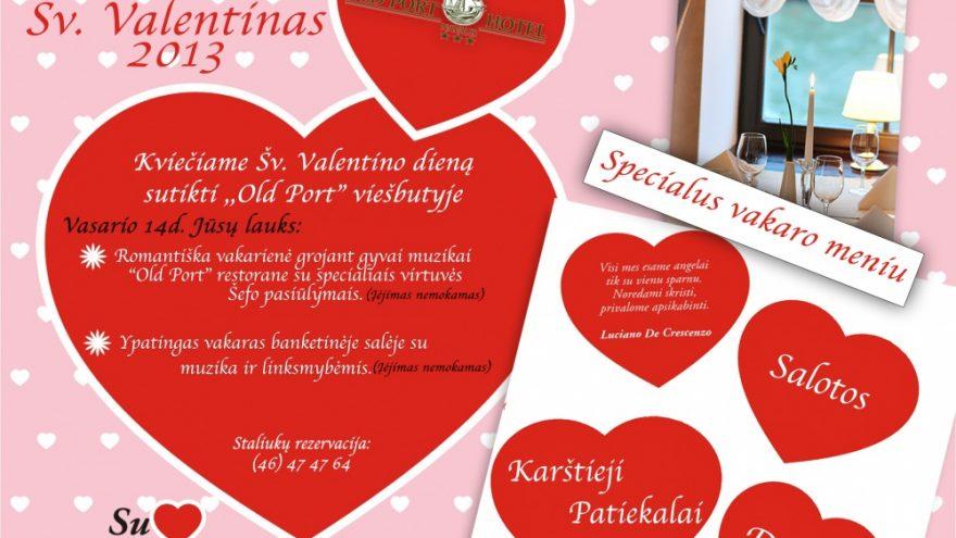 Linksmas ir jaukus Šv. Valentino vakaras