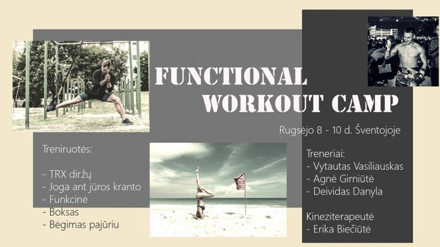 Functional workout camp Šventojoje