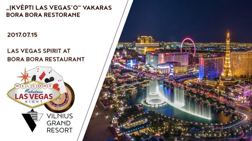 """Pramoginis vakaras """"Įkvėpti Las Vegas'o"""""""