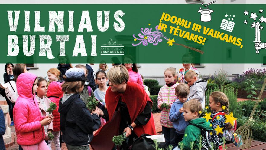 """Ekskursija vaikams ir tėvams """"Vilniaus burtai"""""""