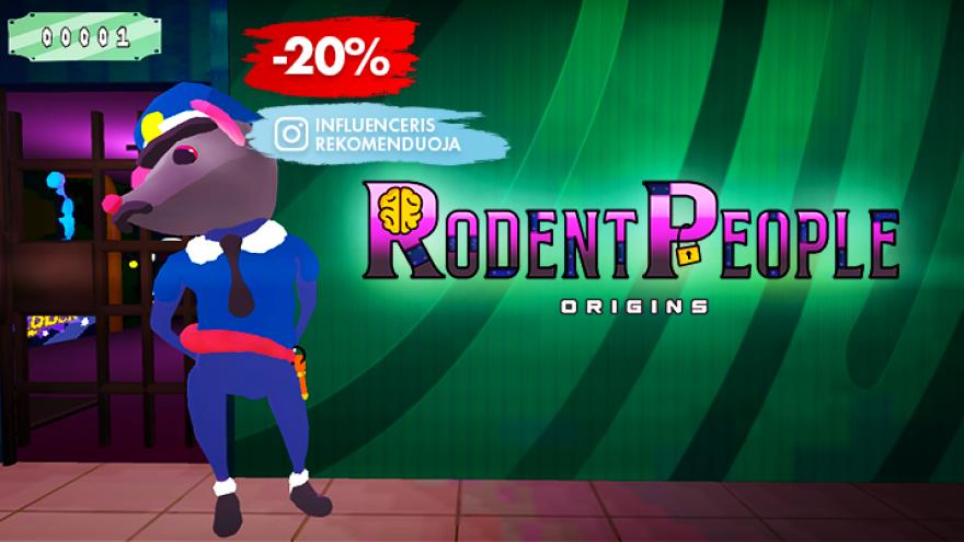 """VR pabėgimo kambarys """"Rodent People: Origins"""""""