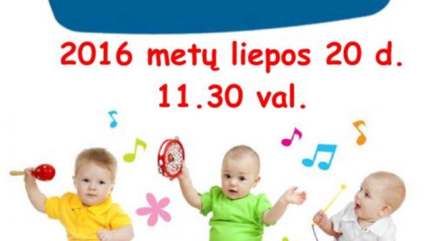 Muzikos pamokėlės mamytėms su kūdikiais