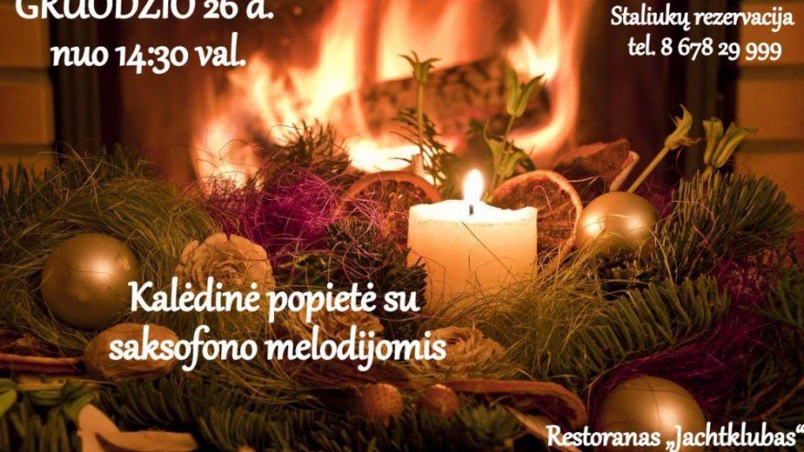 """Kalėdinė popietė su saksofonu – """"Jachtklube"""""""