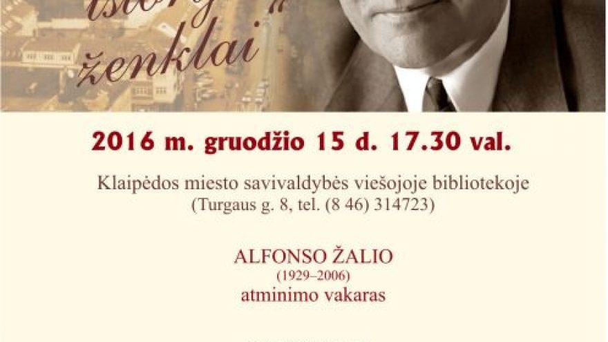 Alfonsui Žaliui skirtas atminimo vakaras
