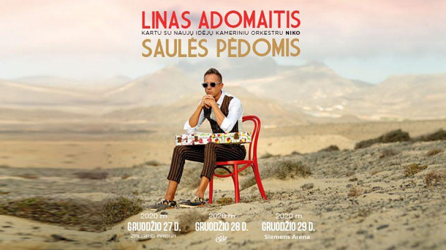 VIP ložės bilietai – Linas Adomaitis. Saulės pėdomis