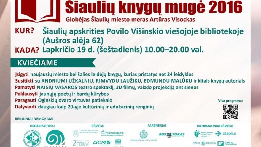 Šiaulių knygų mugė 2016