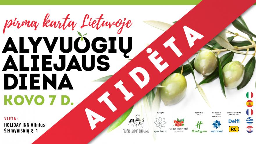 Pirmoji Lietuvoje Alyvuogių aliejaus diena 2021