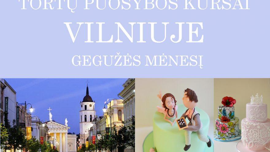 Tortų puošybos kursai Vilniuje